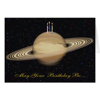 Tarjeta de cumpleaños de Saturn del planeta