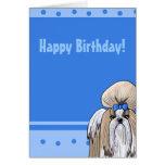 Tarjeta de cumpleaños de Shih Tzu