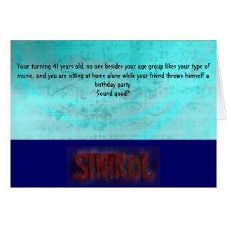 ¡Tarjeta de cumpleaños de SINIKOL
