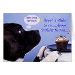 Tarjeta de cumpleaños de Staffordshire bull terrie