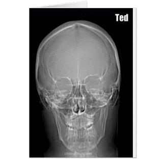 Tarjeta de cumpleaños de Ted de la radiografía