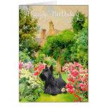 Tarjeta de cumpleaños de Terrier del escocés