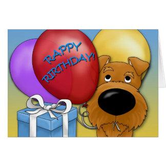 Tarjeta de cumpleaños de Terrier irlandés
