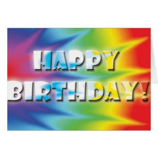 Tarjeta de cumpleaños de Tiedye
