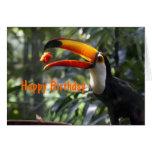 Tarjeta de cumpleaños de Toco Toucan