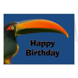 Tarjeta de cumpleaños de Toucan