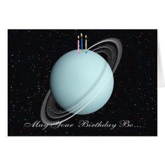Tarjeta de cumpleaños de Urano del planeta