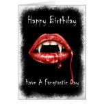 Tarjeta de cumpleaños de Vampir - tenga un día de