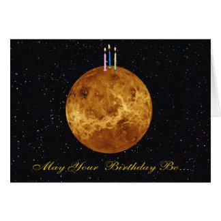 Tarjeta de cumpleaños de Venus del planeta