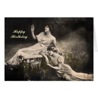 Tarjeta de cumpleaños de Victoriana del vintage