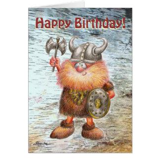 Tarjeta de cumpleaños de Viking del feliz cumpleañ