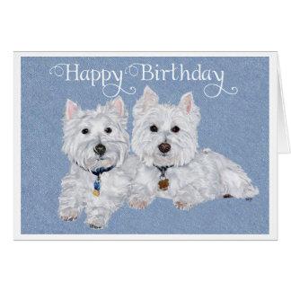 Tarjeta de cumpleaños de Westie