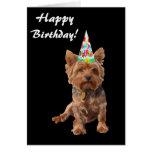 Tarjeta de cumpleaños de Yorkshire Terrier del