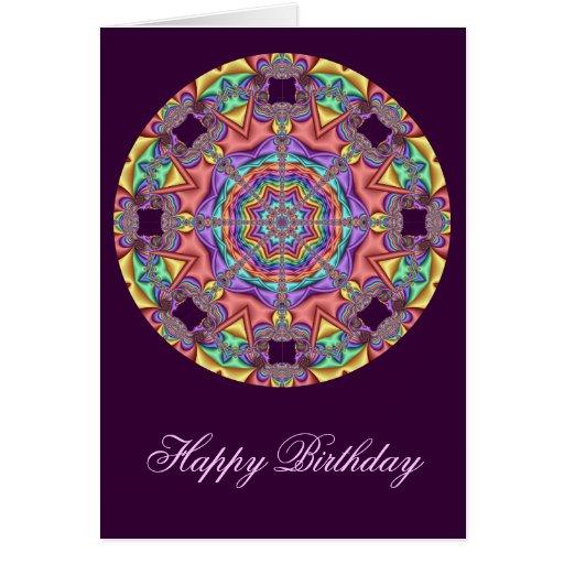 Tarjeta de cumpleaños decorativa del caleidoscopio