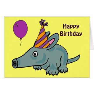 Tarjeta de cumpleaños del Aardvark del ANUNCIO