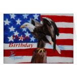 Tarjeta de cumpleaños del aceo de la libertad