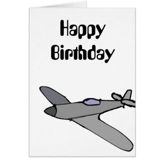 Tarjeta de cumpleaños del aeroplano