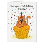 tarjeta de cumpleaños del ahijado con el gato de l