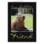 Tarjeta de cumpleaños del amigo con el Capybara