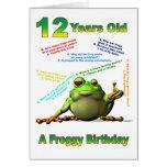 Tarjeta de cumpleaños del amigo del Froggy la 12ma