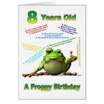 Tarjeta de cumpleaños del amigo del Froggy la 8va