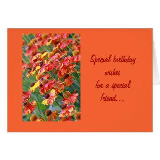 Tarjeta de cumpleaños del amigo del jardín de hier