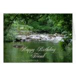 Tarjeta de cumpleaños del amigo que muestra un río