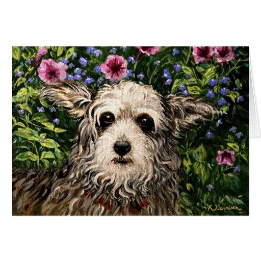 tarjeta de cumpleaños del arte popular del perro