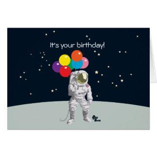 Tarjeta de cumpleaños del astronauta