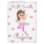 Tarjeta de cumpleaños del bailarín de ballet