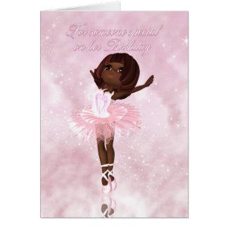 Tarjeta de cumpleaños del bailarín de ballet - Bal