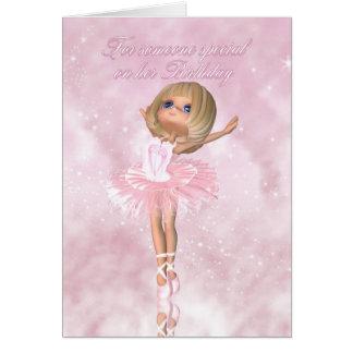 Tarjeta de cumpleaños del bailarín de ballet - cum