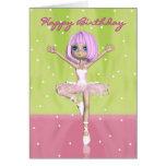 Tarjeta de cumpleaños del ballet - bailarina linda