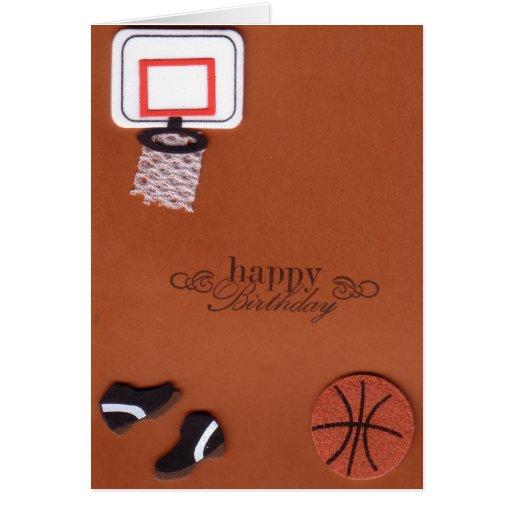 Tarjeta de cumpleaños del baloncesto