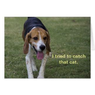 Tarjeta de cumpleaños del beagle