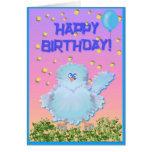 Tarjeta de cumpleaños del Bluebird