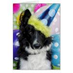 Tarjeta de cumpleaños del border collie