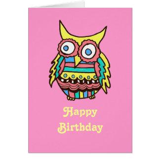 Tarjeta de cumpleaños del búho