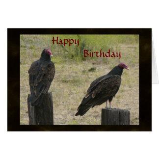 Tarjeta de cumpleaños del buitre
