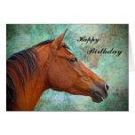 Tarjeta de cumpleaños del caballo
