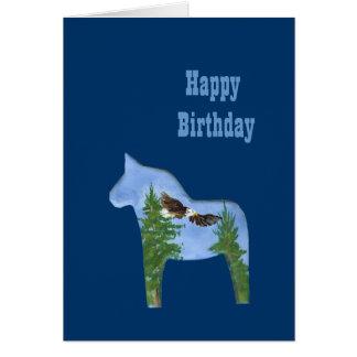Tarjeta de cumpleaños del caballo de Eagle