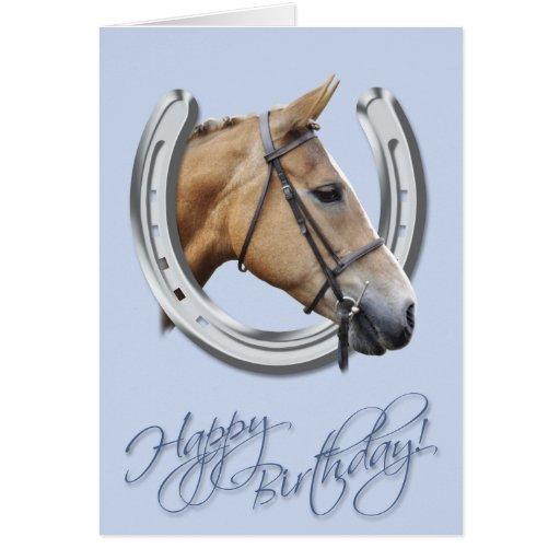 Tarjeta de cumpleaños del caballo y de la herradur | Zazzle