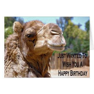 Tarjeta de cumpleaños del camello
