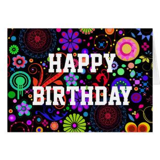 Tarjeta de cumpleaños del caramelo del ojo