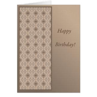 Tarjeta de cumpleaños del chalet del océano de la