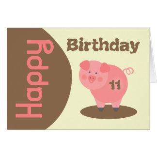 Tarjeta de cumpleaños del charco de fango del