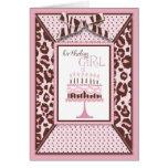 Tarjeta de cumpleaños del chica del guepardo