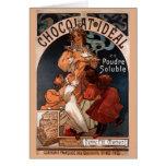 Tarjeta de cumpleaños del chocolate de Nouveau