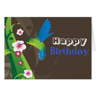 Tarjeta de cumpleaños del colibrí