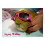 Tarjeta de cumpleaños del conejillo de Indias